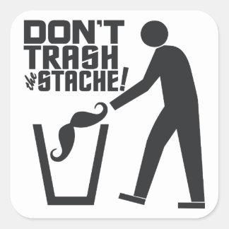 Trash Stache stickers
