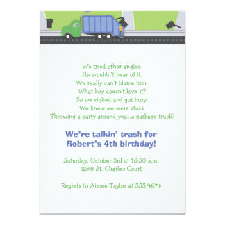 Trash Talking Birthday Card