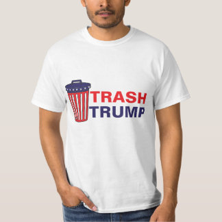 Trash Trump Red, White, & Blue Waste Can Political T-Shirt