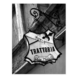 Trattoria Sign Postcard