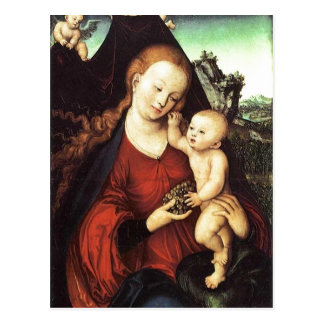 Traubenmadonna von Lucas Cranach d. ?. um 1525 ?l  Postcard