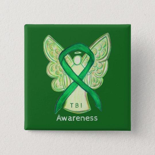 Traumatic Brain Injuries (TBI) Angel Awareness Pin
