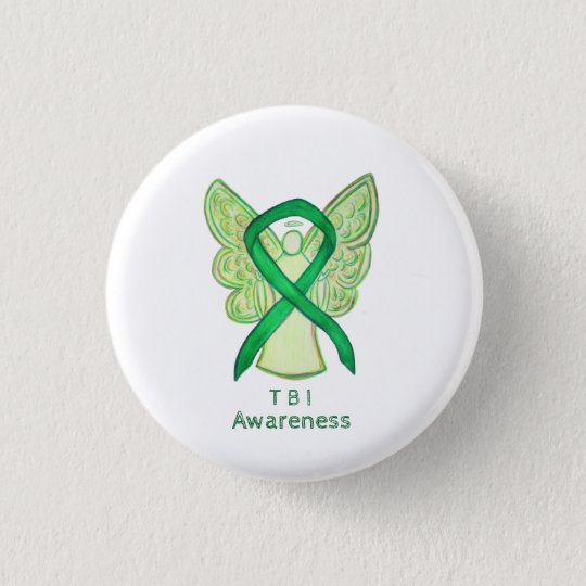 Traumatic Brain Injuries (TBI) Angel Awareness Pin
