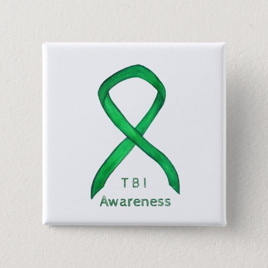 Traumatic Brain Injuries- TBI Awareness Ribbon Pin