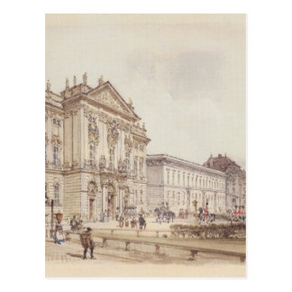 Trautson Palace in Vienna by Rudolf von Alt Postcard