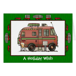 Travco Camper RV Holiday Wish Card