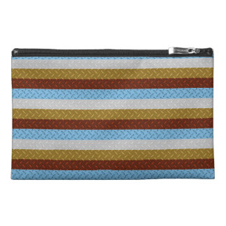 Travel Accessory Bag, 4 Color Diamond Plate Steel Travel Accessories Bags