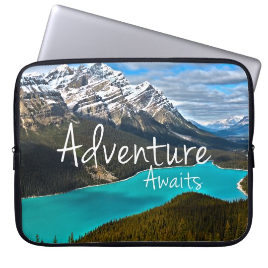Travel Adventure Awaits Photography Laptop Sleeve