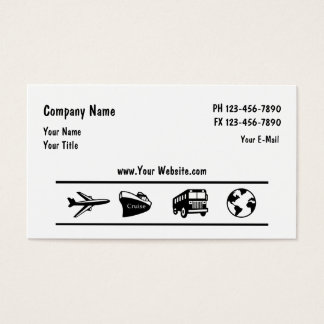 Travel Agency Agent Design Business Card