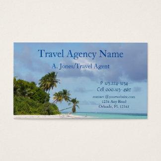 Travel Agency Beach Scene Business Card
