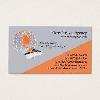 Passport business cards zazzlecomau for Travel agency business cards