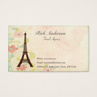 Travel Agency Business Cards - Eiffel Tower