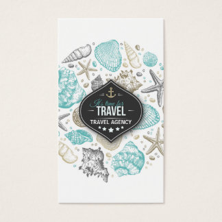 Travel Agency Manager Flight Vacation Sea Trip Business Card
