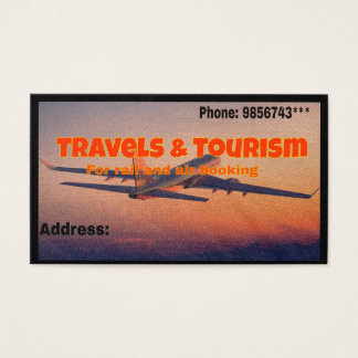 Travel Agency Visiting Card