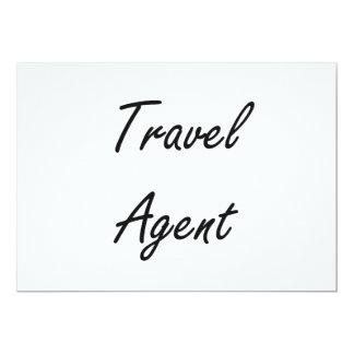 Travel Agent Artistic Job Design 13 Cm X 18 Cm Invitation Card