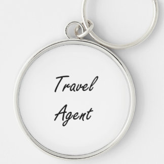 Travel Agent Artistic Job Design Silver-Colored Round Key Ring