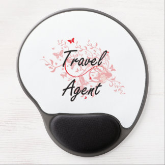 Travel Agent Artistic Job Design with Butterflies Gel Mouse Pad