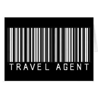 Travel Agent Bar Code Greeting Card