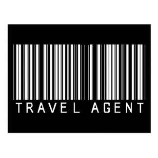 Travel Agent Bar Code Postcard