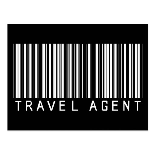 Travel Agent Bar Code Post Card