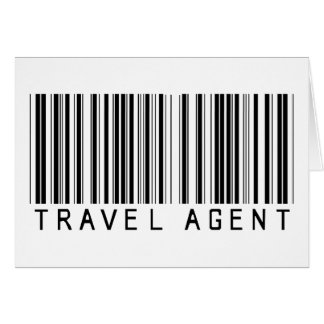 Travel Agent Barcode Greeting Card