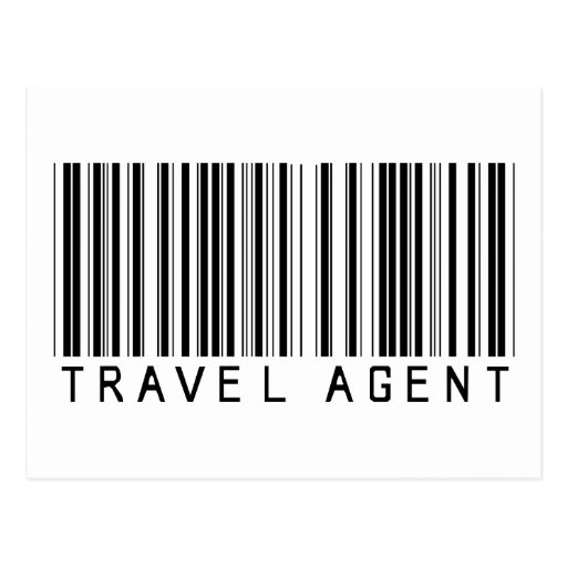 Travel Agent Barcode Post Card