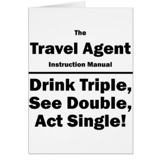 travel agent greeting card