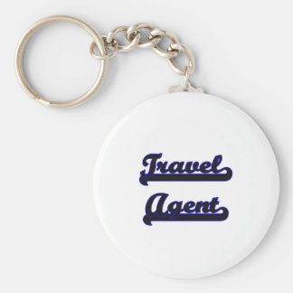 Travel Agent Classic Job Design Basic Round Button Key Ring