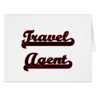 Travel Agent Classic Job Design Big Greeting Card