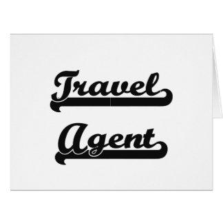 Travel Agent Classic Job Design Large Greeting Card