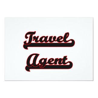"Travel Agent Classic Job Design 5"" X 7"" Invitation Card"