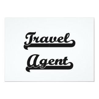 Travel Agent Classic Job Design 5x7 Paper Invitation Card