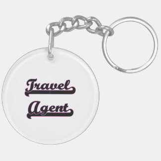 Travel Agent Classic Job Design Double-Sided Round Acrylic Key Ring