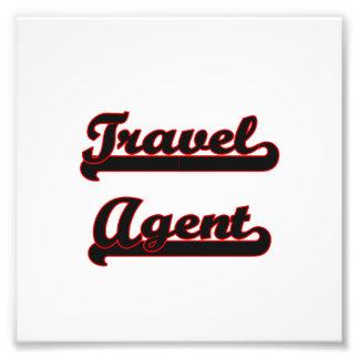 Travel Agent Classic Job Design Photo Art
