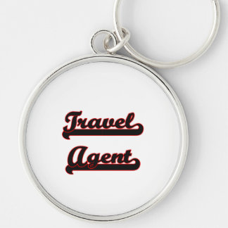 Travel Agent Classic Job Design Silver-Colored Round Key Ring