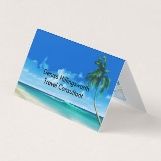 Travel Agent Consultant Business Card
