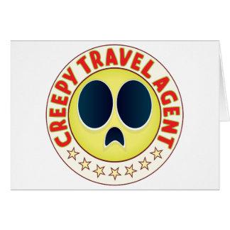 Travel Agent Creepy Greeting Card