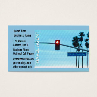 Travel Agent   Pacific Coast Highway Sign Business Card