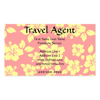 Travel Agent Pack Of Standard Business Cards