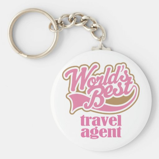 Travel Agent Pink Gift Key Chain
