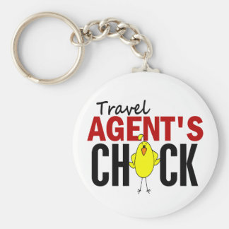 Travel Agent s Chick Key Chains