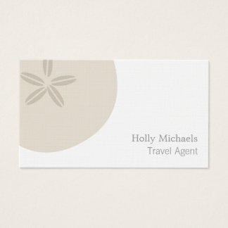 Travel Agent - Sand Dollar Business Card