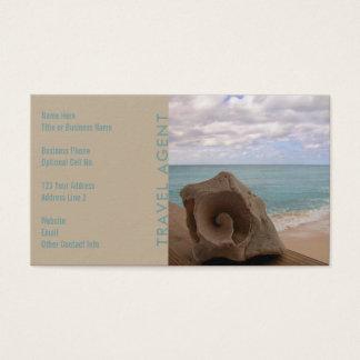 Travel Agent Seashell | Tropical Beach Business Card