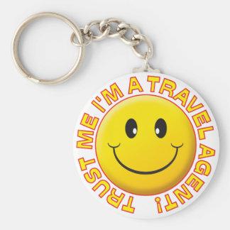 Travel Agent Trust Me Keychains
