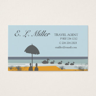 Travel Agent Vacation Ocean Beach Business Card