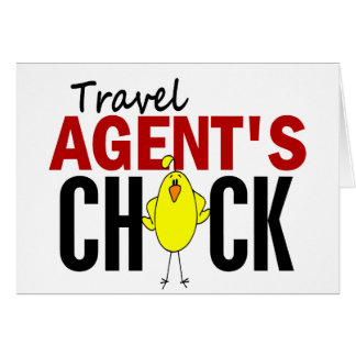 Travel Agent's Chick Cards