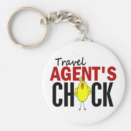 Travel Agent's Chick Key Chains