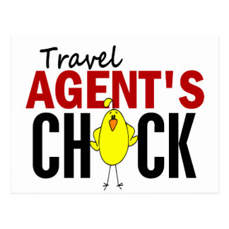 Travel Agent's Chick Postcard