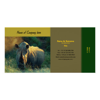 Travel agents, game lodges, hunting farms, safari personalized photo card