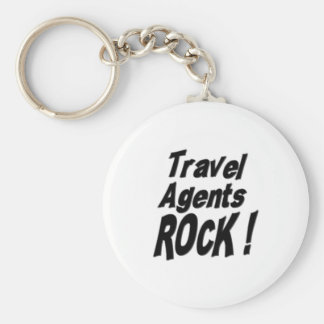 Travel Agents Rock Keychain